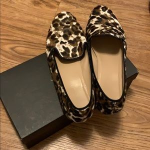 J Crew Hair Loafers - Sienna Black Cat Size 9